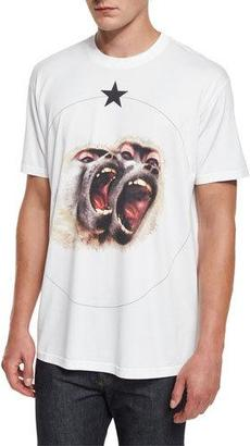 Givenchy Colombian-Fit Monkey Brothers T-Shirt, White $555 thestylecure.com