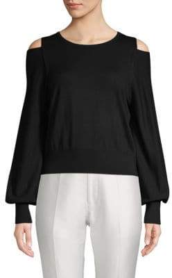 Vince Cold-Shoulder Merino Wool Sweater
