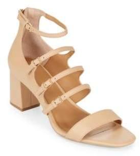 Calvin Klein Caz Open-Toe Leather Sandals