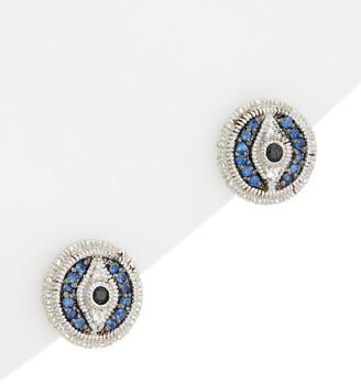 6c9e34db0 Judith Ripka Silver 0.33 Ct. Tw. Gemstone Evil Eye Studs