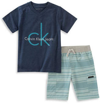 Calvin Klein T-Shirt and Shorts Two-Piece Set