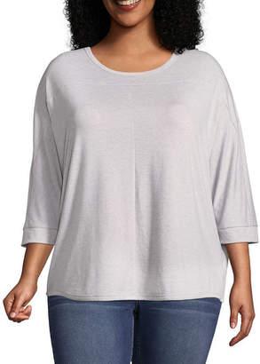 A.N.A 3/4 Sleeve Dolman Scoop Neck T-Shirt - Plus