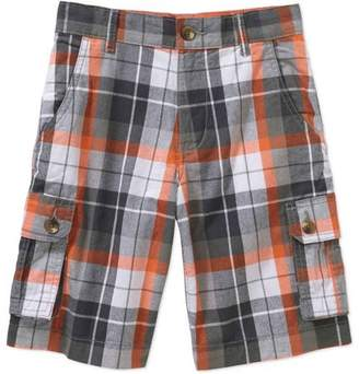 Faded Glory Boys' Plaid Cargo Shorts