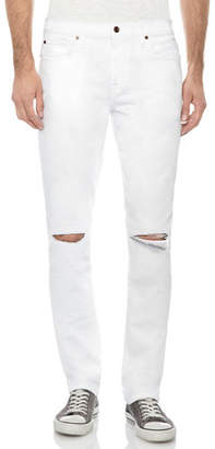 Joe's Jeans Men's The Slim-Fit Distressed Jeans, White