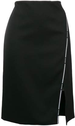 Versace Greek Key logo-trimmed skirt