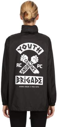 Andrea Crews Pablo Cots Youth Brigade Hooded Raincoat