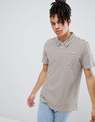 Weekday otto striped polo shirt