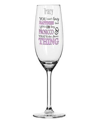 Fashion World You Can't Buy Happiness Prosecco Glass