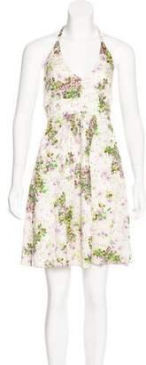 Anna Sui Silk-Blend Printed Dress