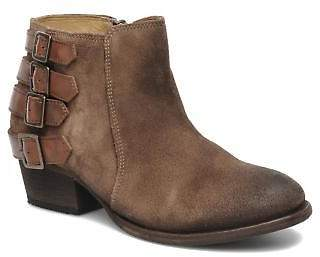 H By Hudson Women's Encke Rounded Toe Ankle Boots In Brown - Size Uk 2 / Eu 35