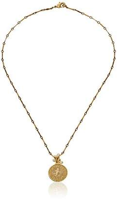 Lenora Dame Plated Brass Token of Love Necklace