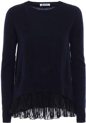 Dondup Chiffon And Cashmere Blend Sweater