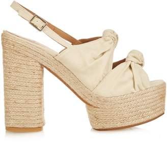 CASTAÑER Abbey canvas platform sandals $184 thestylecure.com