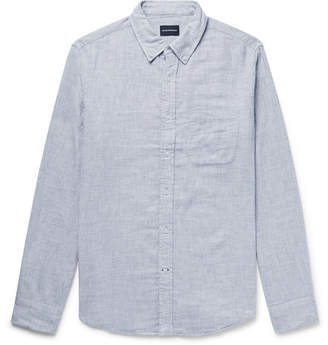 Club Monaco Button-Down Collar Double-Faced Brushed-Cotton Shirt