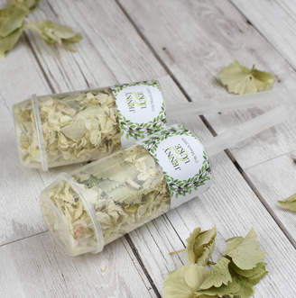 Shropshire Petals Woodland Personalised Wedding Confetti Pops