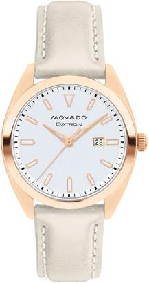 Movado Heritage Datron Leather Band Watch, 31mm