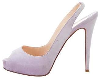 Christian Louboutin Suede N° Prive Pumps