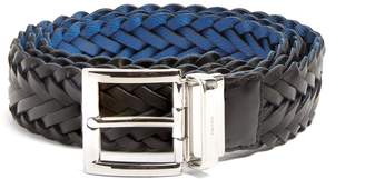 Prada Reversible braided-leather belt