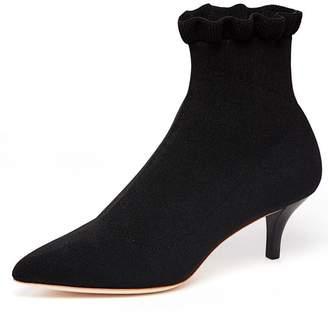 Loeffler Randall Kassidy Kitten Heel Stretch Bootie in Black
