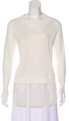 Akris Punto Long Sleeve Knit Sweater