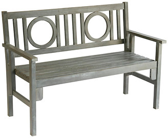 One Kings Lane Outdoor Capitola Folding Bench - Gray