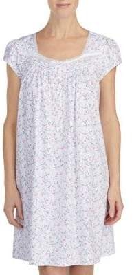 Eileen West Short Floral Print Nightgown