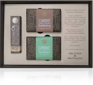 Melchior & Balthazar - Passion Gift Box (Argan Oil Roll-On, Tonifying Eucalyptus & Exfoliating Orange Blossom Creamy Soaps)