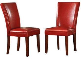 Weston Home Parson Side Chairs - Set of 2, Red Wine