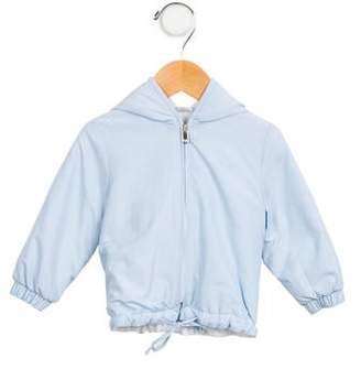 Il Gufo Girls' Hooded Zip-Up Jacket