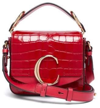 Chloé The C Mini Crocodile Effect Leather Cross Body Bag - Womens - Red