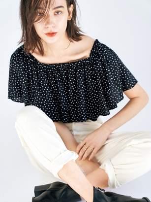 Mila Owen (ミラ オーウェン) - ミラ オーウェン ルーミーテーパードデニムパンツ