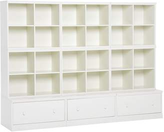 Pottery Barn Kids Cameron 6 Cubby & 3 Drawer Base Set, Simply White