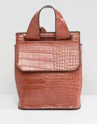 Asos DESIGN mini croc backpack