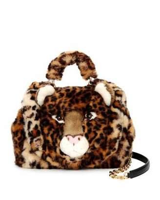 Dolce & Gabbana Sicily Small Leo Fur Satchel Bag