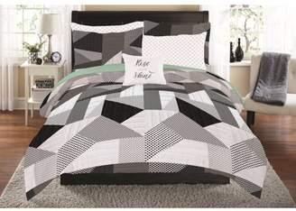 Mainstays Patchwork Prism Bed in a Bag Coordinating Bedding Set