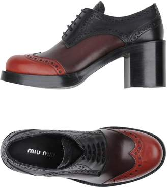 Miu Miu Lace-up shoes