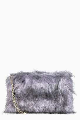 boohoo Mia Faux Fur Cross Body Bag