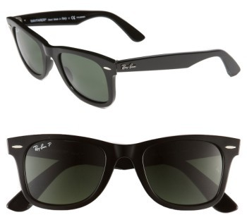 Women's Ray-Ban Standard Classic Wayfarer 50Mm Polarized Sunglasses - Black Polarized