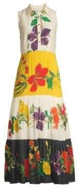 Carolina K. Natalie Floral Cotton Silk Dress