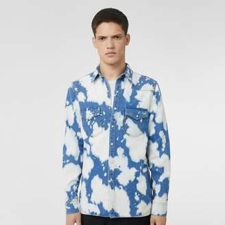 Burberry Monogram Motif Bleached Denim Shirt
