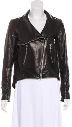 Veronica Beard Leather Zip-Up Jacket w/ Tags