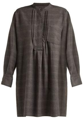 Etoile Isabel Marant Dancy Checked Cotton Dress - Womens - Dark Grey