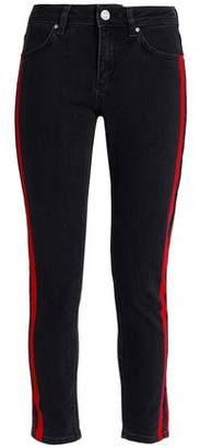 Zoe Karssen Striped Mid-Rise Skinny Jeans