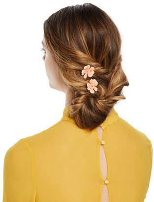Jennifer Behr Poppy Floral Bobby Pins, Set of 2