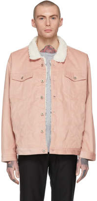 Naked & Famous Denim Denim Denim Pink Oversized Corduroy Jacket