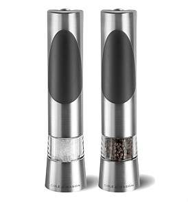 Cole & Mason Richmond Electric Salt And Pepper Grinders Set Of 2