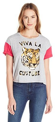 Juicy Couture Black Label Women's Knt Viva La Graphic Tee $98 thestylecure.com