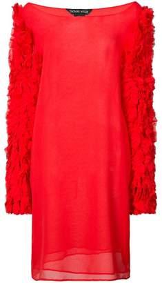 Thomas Wylde textured sleeve dress