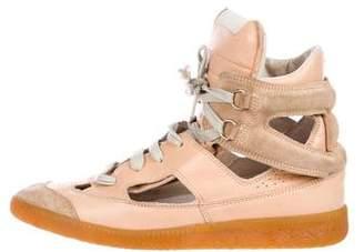 Maison Margiela Leather Cutout Sneakers