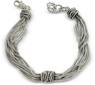 Giacomo Burroni Multi Chain Bracelet w/Etruscan Knot